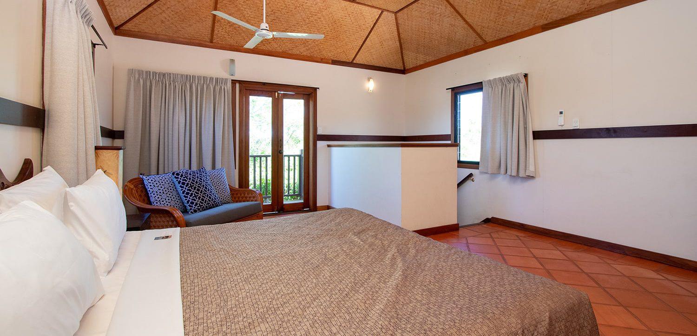 broome-accommdation-two-room-villa-upstairs-bedroom | Bali Hai Resort and Spa