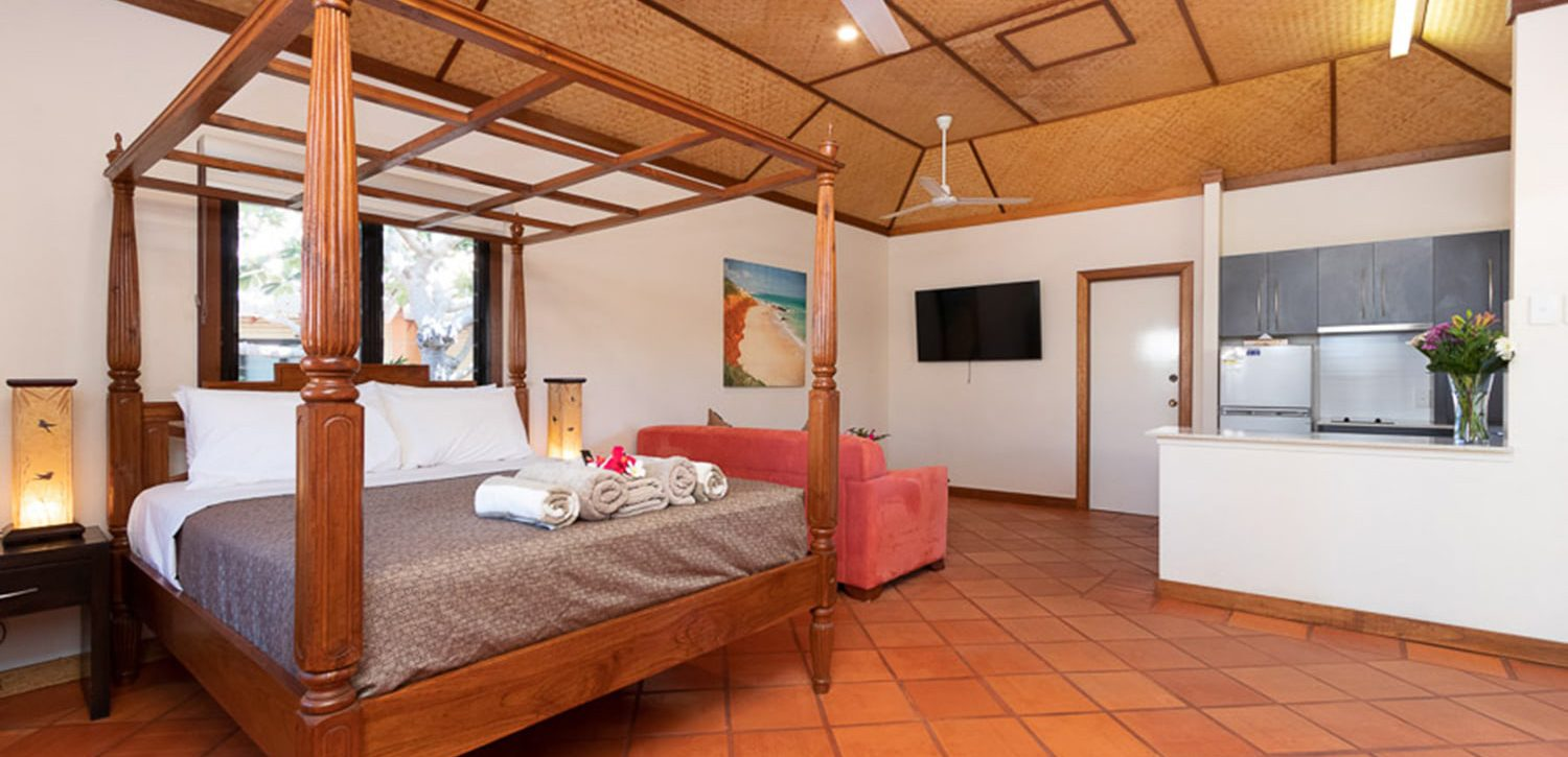 broome-accommodation-spa-resort-studio-villa-queen-bed | Bali Hai Resort and Spa